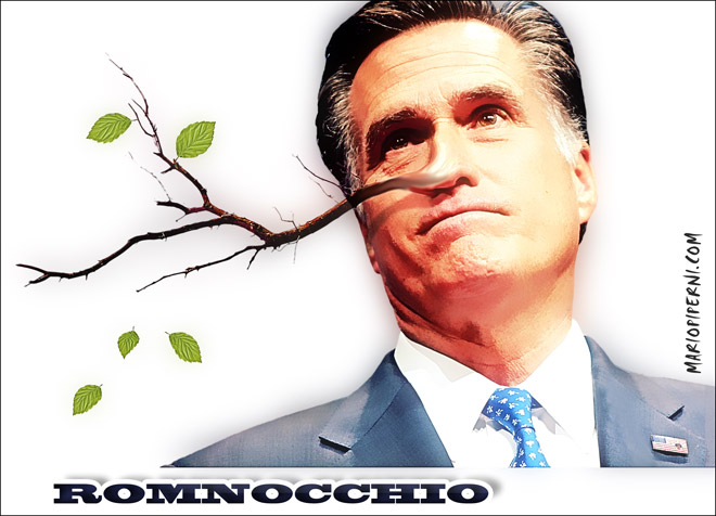 2 face romney with pinocchio nose